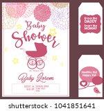 baby shower invitation card...   Shutterstock .eps vector #1041851641
