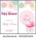 baby shower invitation card... | Shutterstock .eps vector #1041851644