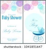 baby shower invitation card...   Shutterstock .eps vector #1041851647