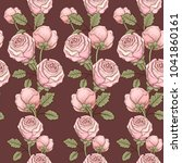 seamless pattern with vintage... | Shutterstock . vector #1041860161