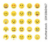 flat icons pack of smileys | Shutterstock .eps vector #1041860467