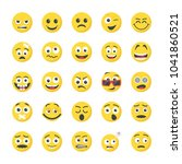 smileys flat icons collection | Shutterstock .eps vector #1041860521