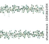 vector floral card or banner... | Shutterstock .eps vector #1041861454
