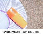 stylish beautiful hat with... | Shutterstock . vector #1041870481