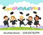 Happy Graduation Day. Vector...