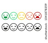 set emoticons icons for... | Shutterstock .eps vector #1041878359