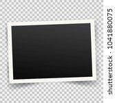 realistic vintage photo frame... | Shutterstock . vector #1041880075
