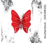 butterfly with grunge background   Shutterstock .eps vector #104188181