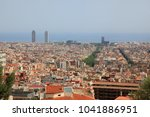 barcelona  spain  view of the... | Shutterstock . vector #1041886951