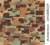 seamless vector camouflage...   Shutterstock .eps vector #1041888229