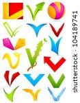 illustration of set of... | Shutterstock .eps vector #104189741