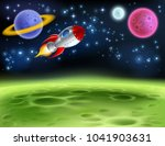 an outer space planet or alien... | Shutterstock . vector #1041903631