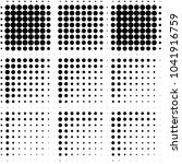 grunge halftone black and white ... | Shutterstock .eps vector #1041916759