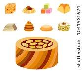 east delicious dessert sweets... | Shutterstock .eps vector #1041931624