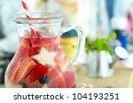 red  white and blue lemonade or ... | Shutterstock . vector #104193251
