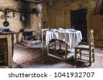old house kitchen table set... | Shutterstock . vector #1041932707