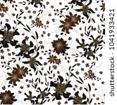 small floral seamless pattern...   Shutterstock .eps vector #1041933421