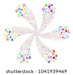 multi colored intellect gears... | Shutterstock .eps vector #1041939469