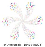 bright music cyclonic motion.... | Shutterstock .eps vector #1041940075