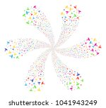 colorful medicine caduceus... | Shutterstock .eps vector #1041943249
