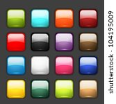 set of glossy button icons for...