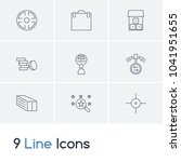 business icon set and coin with ...