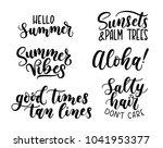 summer calligraphy set.big set... | Shutterstock .eps vector #1041953377