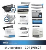 web design website element...   Shutterstock .eps vector #104195627