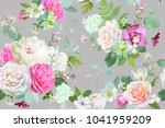 beautiful seamless spring... | Shutterstock .eps vector #1041959209