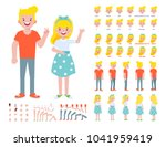 front  side  back view animated ... | Shutterstock .eps vector #1041959419