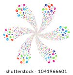 psychedelic intellect gears... | Shutterstock . vector #1041966601