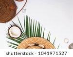 feminine accessories  greem... | Shutterstock . vector #1041971527