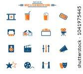 set of universal cinema related ... | Shutterstock .eps vector #1041975445