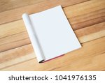 magazine page blank page on... | Shutterstock . vector #1041976135