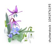bunch of forest flowers ... | Shutterstock .eps vector #1041976195