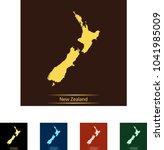 map of new zealand | Shutterstock .eps vector #1041985009