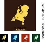 map of netherlands | Shutterstock .eps vector #1041985021