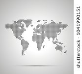 simple world map pixelated... | Shutterstock .eps vector #1041990151