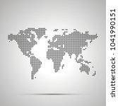 simple world map pixelated... | Shutterstock .eps vector #1041990151