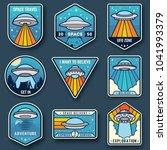 alien spaceship  spacecrafts... | Shutterstock .eps vector #1041993379