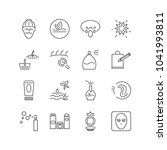 cosmetology icons set with... | Shutterstock .eps vector #1041993811