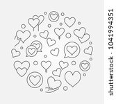 hearts round outline... | Shutterstock .eps vector #1041994351