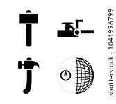 icon instruments and tools with ... | Shutterstock .eps vector #1041996799