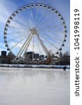 Small photo of MONTREAL CANADA 02-08-18: La Grande Roue de Montreal the tallest Ferris wheel in Canada allows you to see the city and its surroundings from 60 metres in the air, the equivalent of 20-storey building