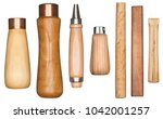 wooden manual tool handles... | Shutterstock . vector #1042001257