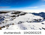 view of snow  ice and glaciers... | Shutterstock . vector #1042003225