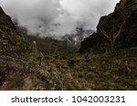 valleys and peaks on mount... | Shutterstock . vector #1042003231