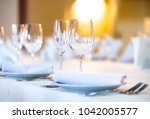 beautifully served table in a... | Shutterstock . vector #1042005577