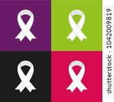 white awareness ribbons on... | Shutterstock .eps vector #1042009819