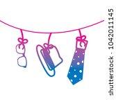 classic hat necktie and glasses ...   Shutterstock .eps vector #1042011145